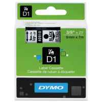1 x Genuine Dymo D1 Label Tape 9mm Black on Clear 40910 - 7 metres