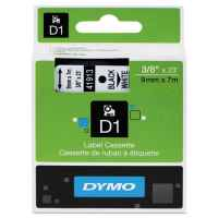 1 x Genuine Dymo D1 Label Tape 9mm Black on White 40913 - 7 metres