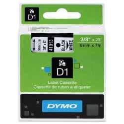 Dymo D1 Label Tape 9mm Black on White 40913