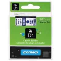 1 x Genuine Dymo D1 Label Tape 9mm Blue on White 40914 - 7 metres