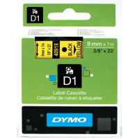 1 x Genuine Dymo D1 Label Tape 9mm Black on Yellow 40918 - 7 metres