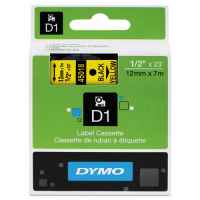 1 x Genuine Dymo D1 Label Tape 12mm Black on Yellow 45018 - 7 metres