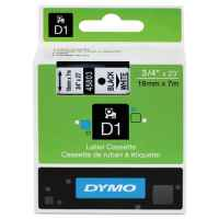 1 x Genuine Dymo D1 Label Tape 19mm Black on White 45803 - 7 metres