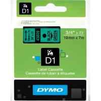 1 x Genuine Dymo D1 Label Tape 19mm Black on Green 45809 - 7 metres