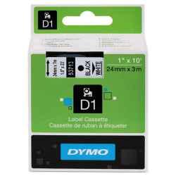Dymo D1 Label Tape 24mm Black on White 53713