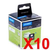10 x Genuine Dymo LW Address Labels 28mm x 89mm - 260 Labels SD99010