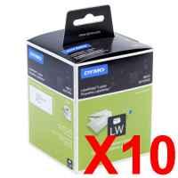 10 x Genuine Dymo LW Address Labels 36mm x 89mm - 520 Labels SD99012
