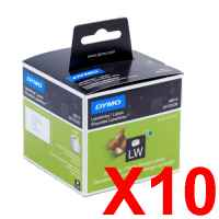 10 x Genuine Dymo LW Shipping Labels 54mm x 101mm - 220 Labels SD99014