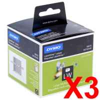 3 x Genuine Dymo LW Multi Purpose Labels 54mm x 70mm - 320 Labels SD99015