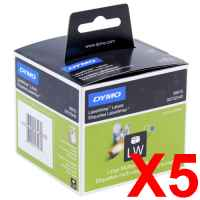 5 x Genuine Dymo LW Multi Purpose Labels 54mm x 70mm - 320 Labels SD99015