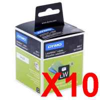 10 x Genuine Dymo LW Suspension File Labels 12mm x 50mm - 220 Labels SD99017