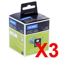 3 x Genuine Dymo LW Suspension File Labels 12mm x 50mm - 220 Labels SD99017