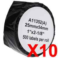 10 x Compatible Dymo LW Address Labels 25mm x 54mm - 500 Labels SD11352