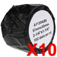 10 x Compatible Dymo LW Multi Purpose Labels 57mm x 32mm - 1000 Labels SD11354