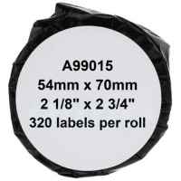 1 x Compatible Dymo LW Multi Purpose Labels 54mm x 70mm - 320 Labels SD99015