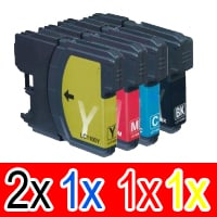 5 Pack Compatible Brother LC-133 Ink Cartridge Set (2BK,1C,1M,1Y)