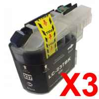 3 x Compatible Brother LC-237XL Black Ink Cartridge LC-237XLBK