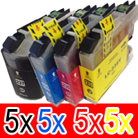 20 Pack Compatible Brother LC-237XL LC-235XL Ink Cartridge Set (5BK,5C,5M,5Y)