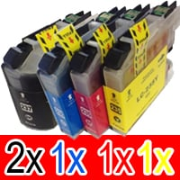 5 Pack Compatible Brother LC-237XL LC-235XL Ink Cartridge Set (2BK,1C,1M,1Y)