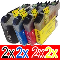 8 Pack Compatible Brother LC-237XL LC-235XL Ink Cartridge Set (2BK,2C,2M,2Y)