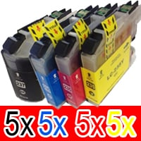 20 Pack Compatible Brother LC-239XL LC-235XL Ink Cartridge Set (5BK,5C,5M,5Y)