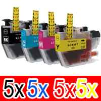 20 Pack Compatible Brother LC-3317 Ink Cartridge Set (5BK,5C,5M,5Y)