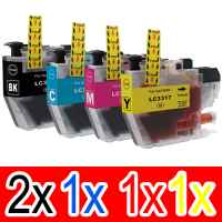5 Pack Compatible Brother LC-3317 Ink Cartridge Set (2BK,1C,1M,1Y)