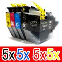 20 Pack Compatible Brother LC-3319XL Ink Cartridge Set (5BK,5C,5M,5Y)