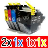 5 Pack Compatible Brother LC-3319XL Ink Cartridge Set (2BK,1C,1M,1Y)