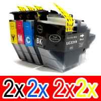 8 Pack Compatible Brother LC-3319XL Ink Cartridge Set (2BK,2C,2M,2Y)