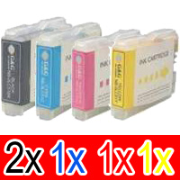 5 Pack Compatible Brother LC-37 Ink Cartridge Set (2BK,1C,1M,1Y)