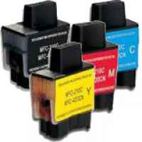 4 Pack Compatible Brother LC-47 Ink Cartridge Set (1BK,1C,1M.1Y)