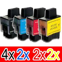 10 Pack Compatible Brother LC-47 Ink Cartridge Set (4BK,2C,2M,2Y)