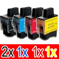 5 Pack Compatible Brother LC-47 Ink Cartridge Set (2BK,1C,1M,1Y)