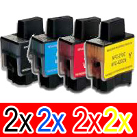 8 Pack Compatible Brother LC-47 Ink Cartridge Set (2BK,2C,2M,2Y)
