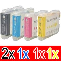 5 Pack Compatible Brother LC-57 Ink Cartridge Set (2BK,1C,1M,1Y)