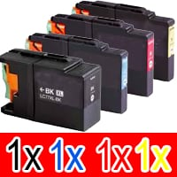 4 Pack Compatible Brother LC-73 Ink Cartridge Set (1BK,1C,1M.1Y)
