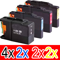 10 Pack Compatible Brother LC-73 Ink Cartridge Set (4BK,2C,2M,2Y)