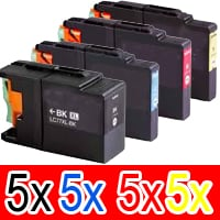 20 Pack Compatible Brother LC-73 Ink Cartridge Set (5BK,5C,5M,5Y)