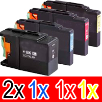 5 Pack Compatible Brother LC-73 Ink Cartridge Set (2BK,1C,1M,1Y)