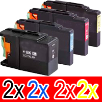 8 Pack Compatible Brother LC-73 Ink Cartridge Set (2BK,2C,2M,2Y)
