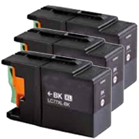 3 x Compatible Brother LC-77XL Black Ink Cartridge LC-77XLBK