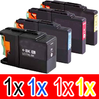 4 Pack Compatible Brother LC-77XL Ink Cartridge Set (1BK,1C,1M.1Y)