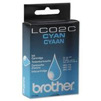 1 x Genuine Brother LC-02 Cyan Ink Cartridge LC-02C