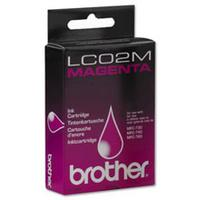 1 x Genuine Brother LC-02 Magenta Ink Cartridge LC-02M