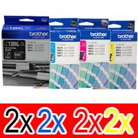 8 Pack Genuine Brother LC-139XL LC-135XL Ink Cartridge Set (2BK,2C,2M,2Y)