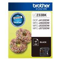 1 x Genuine Brother LC-233 Black Ink Cartridge LC-233BK