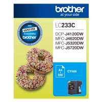 1 x Genuine Brother LC-233 Cyan Ink Cartridge LC-233C