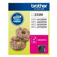 1 x Genuine Brother LC-233 Magenta Ink Cartridge LC-233M