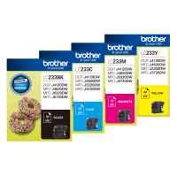 4 Pack Genuine Brother LC-233 Ink Cartridge Set (1BK,1C,1M,1Y)